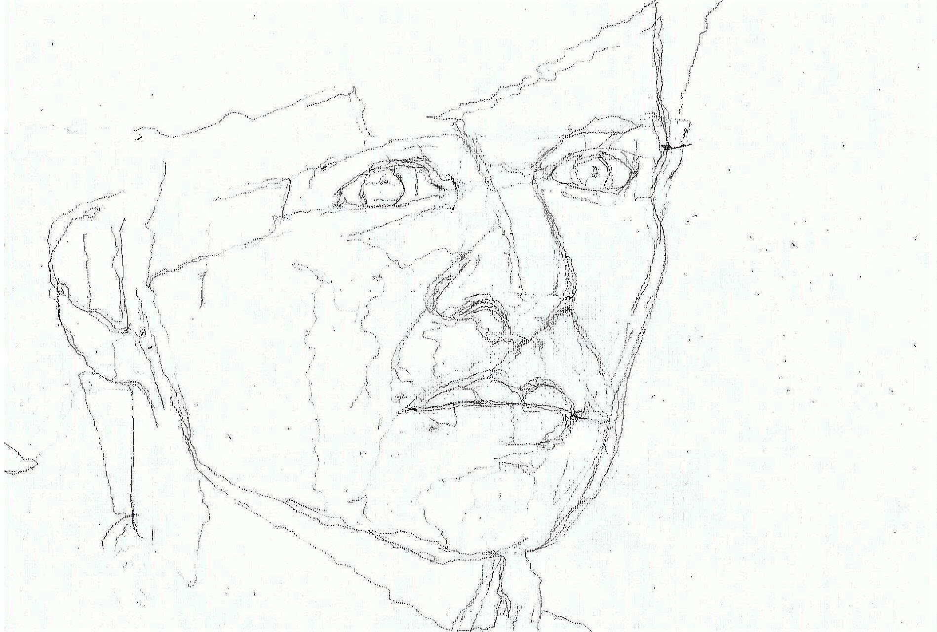 365 dagen een portret 88 Linda van Dijck, actrice Tekening 19c25