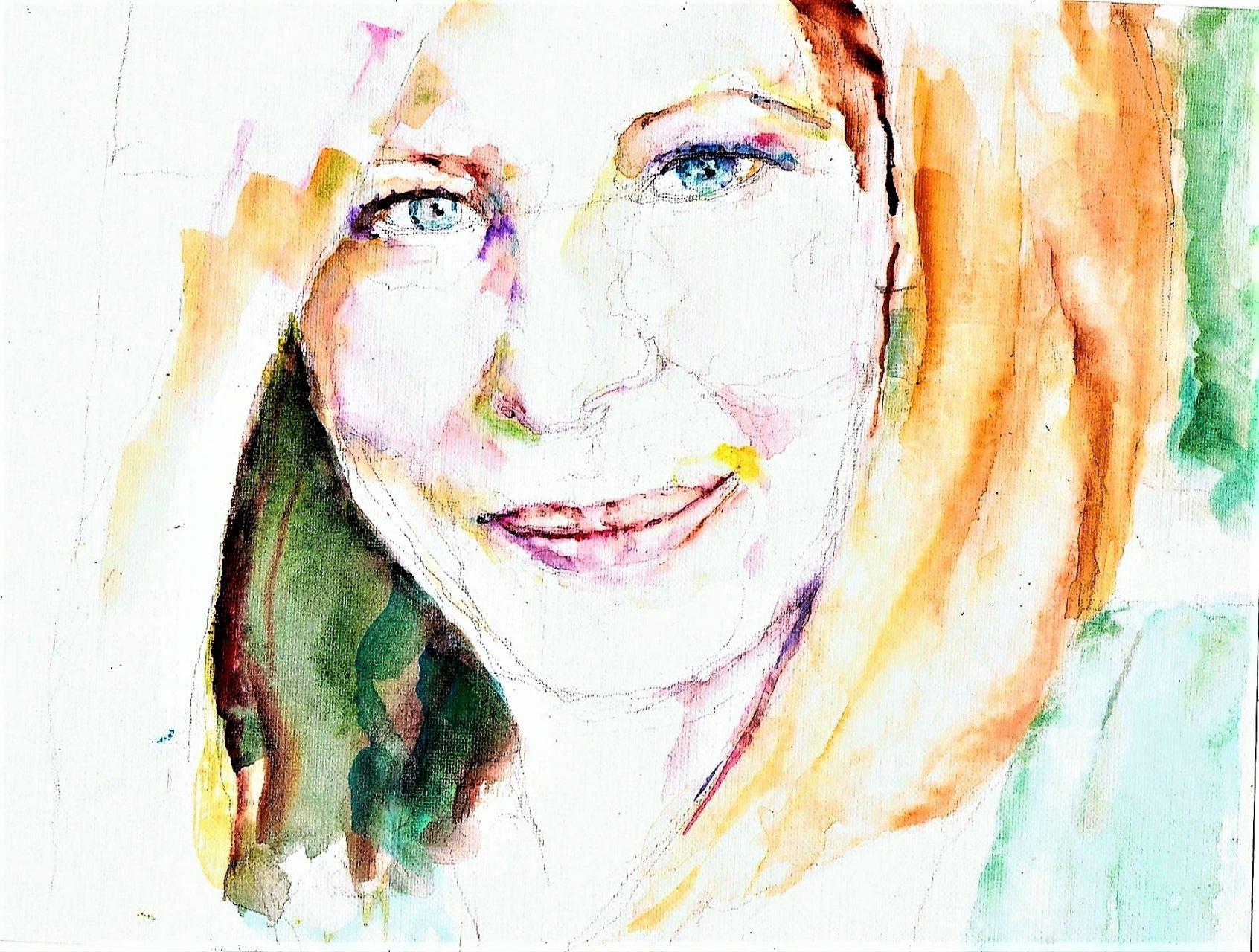 365 dagen een portret 87 Barbara Streisand, zangeres Aquarel 19c25