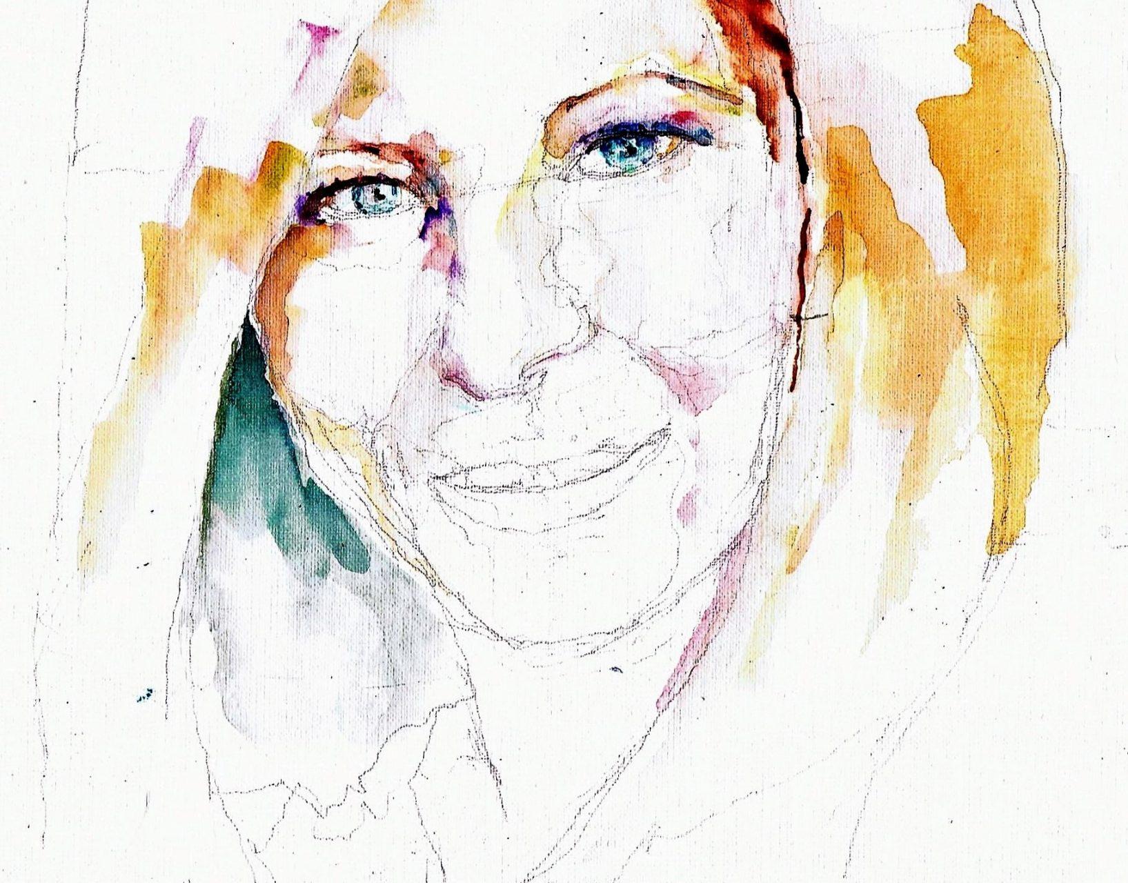 365 dagen een portret 86 Barbara Streisand, zangeres Aquarel 19c25