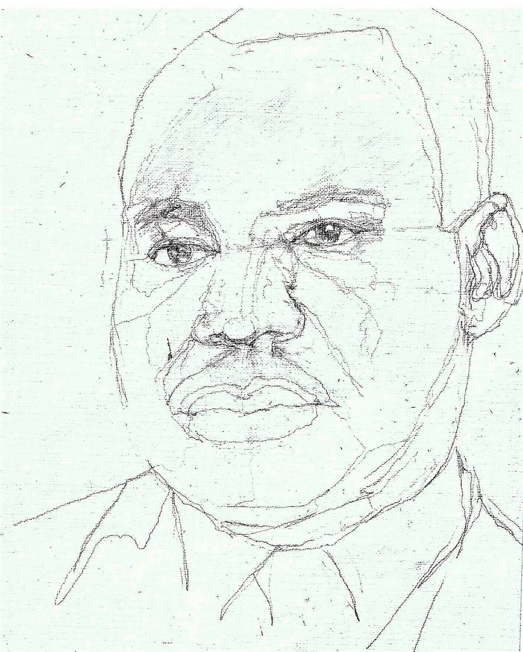 365 dagen een portret 81 Maarten Luther King , politicus Potlood 19c25