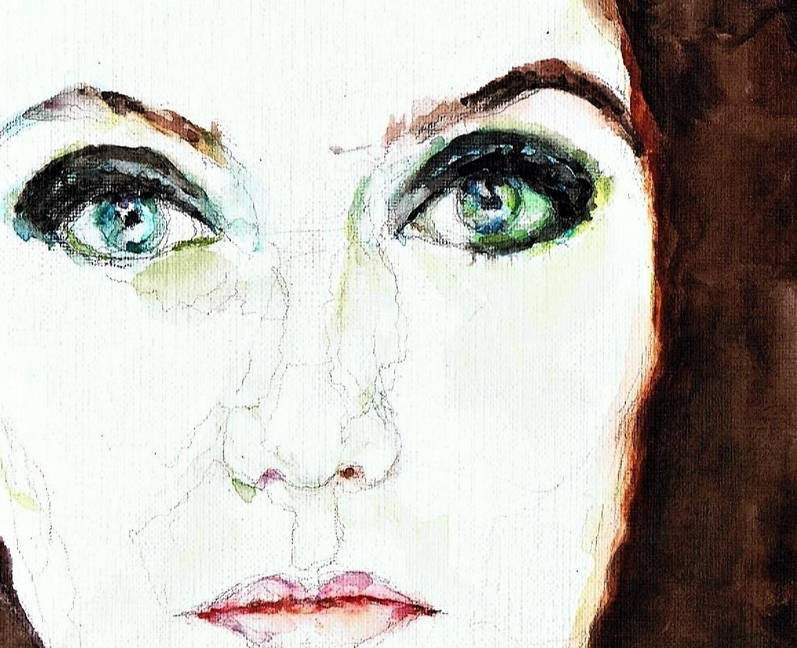 365 dagen een portret 78 Carice van Houten, actrice Aquarel 19c25