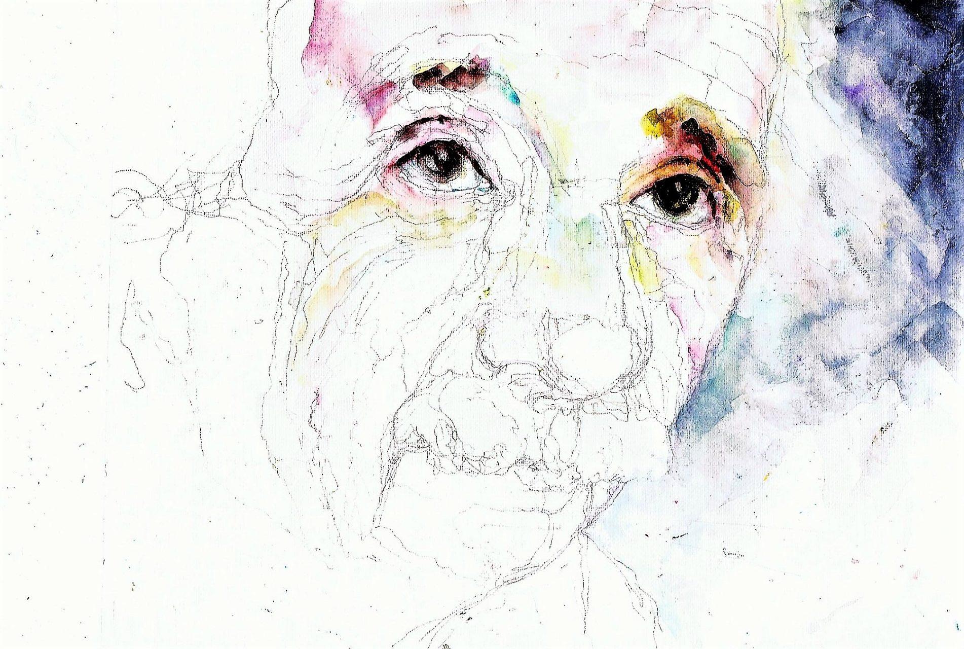 365 dagen een portret 72 Albert Einstein Aquarel 19c25