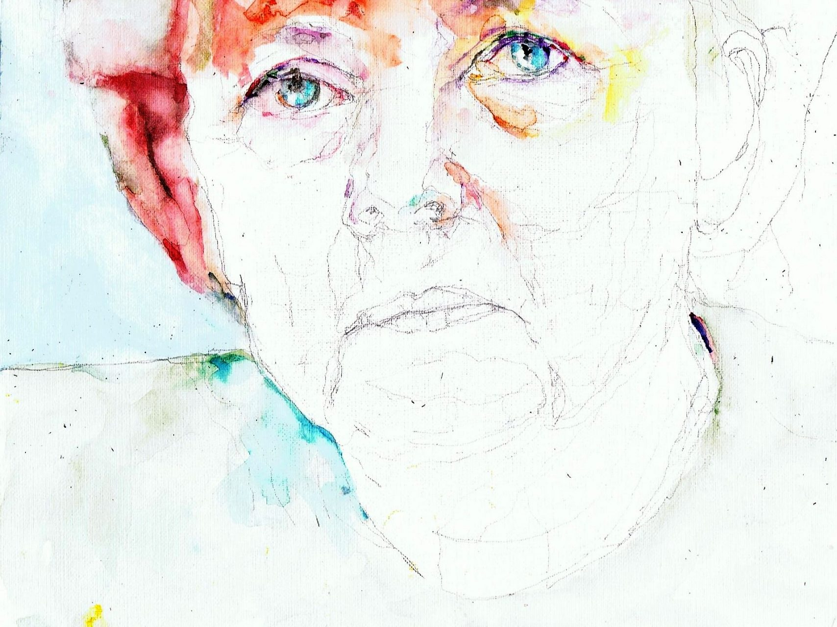 365 dagen een portret 68 Angela Merkel, premier Duitsland Aquarel 19c25