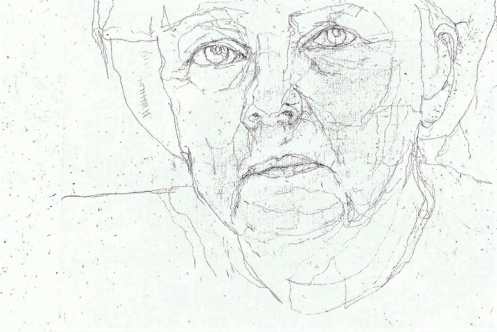 365 dagen een portret 67 Angela Merkel, premier Duitsland Potlood 19c25