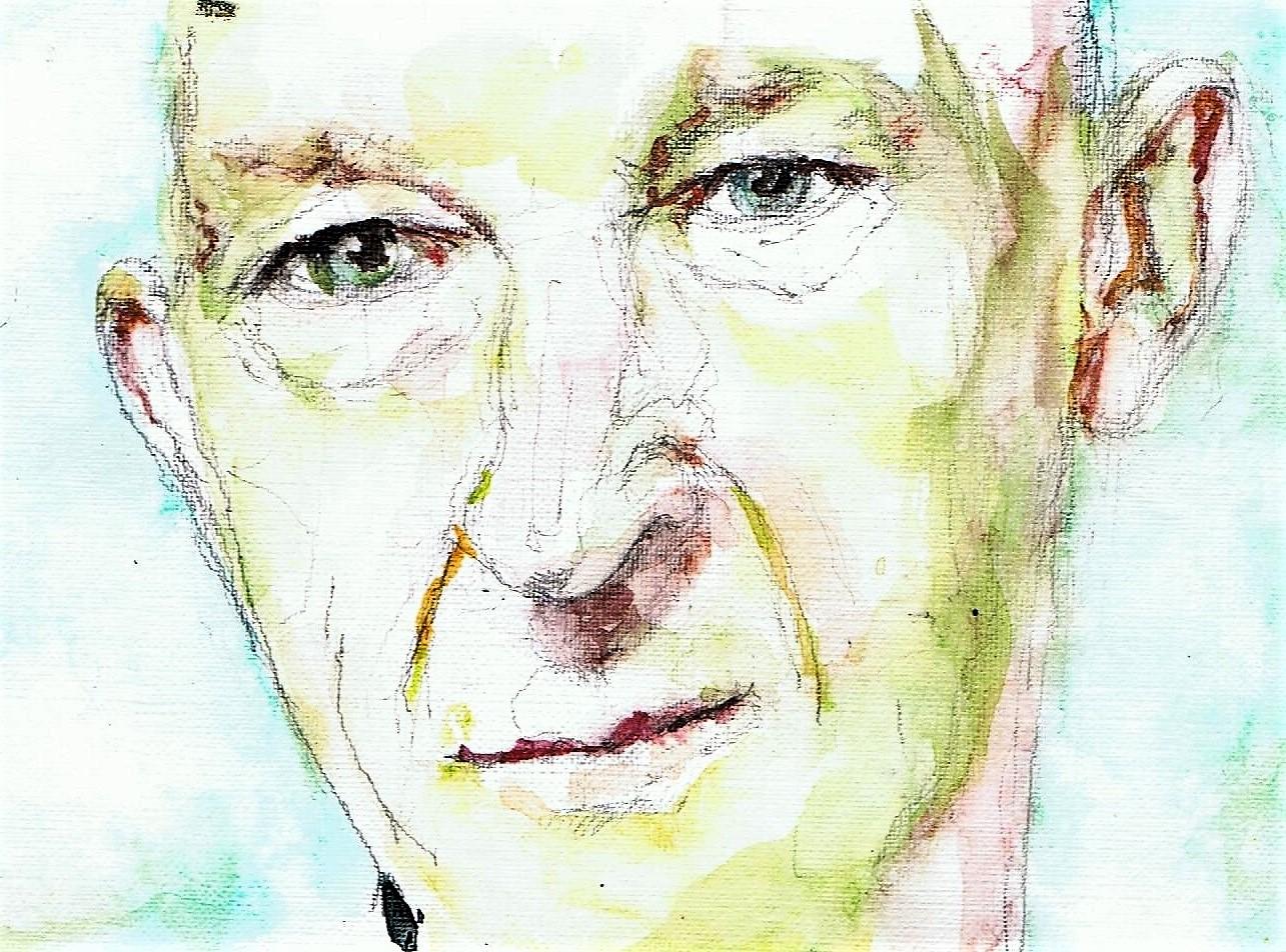 365 dagen een portret 28 Wilfried de Jong, theatermaker Aquarel 19c25
