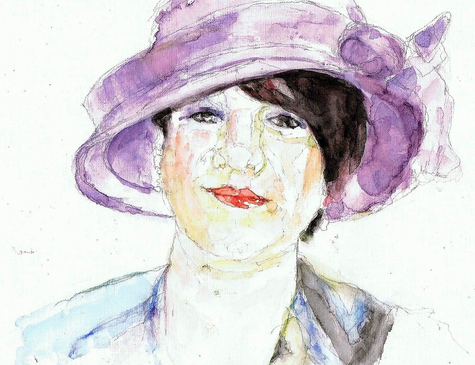 365 dagen een portret 13 Sharon Dijksma Aquarel 19c25