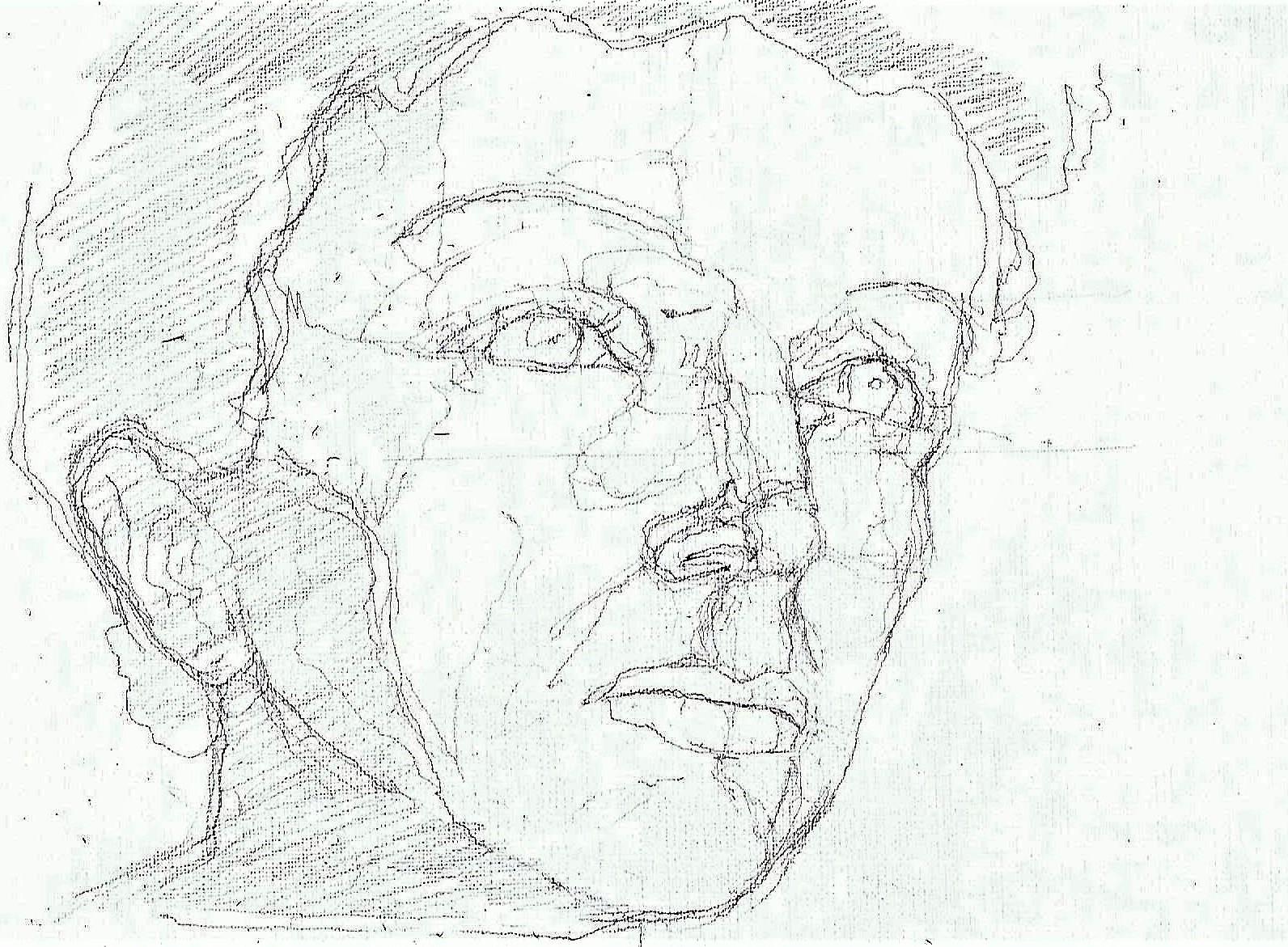 365 dagen een portret 62 Edith Piaf, zangeres Potlood 19c25