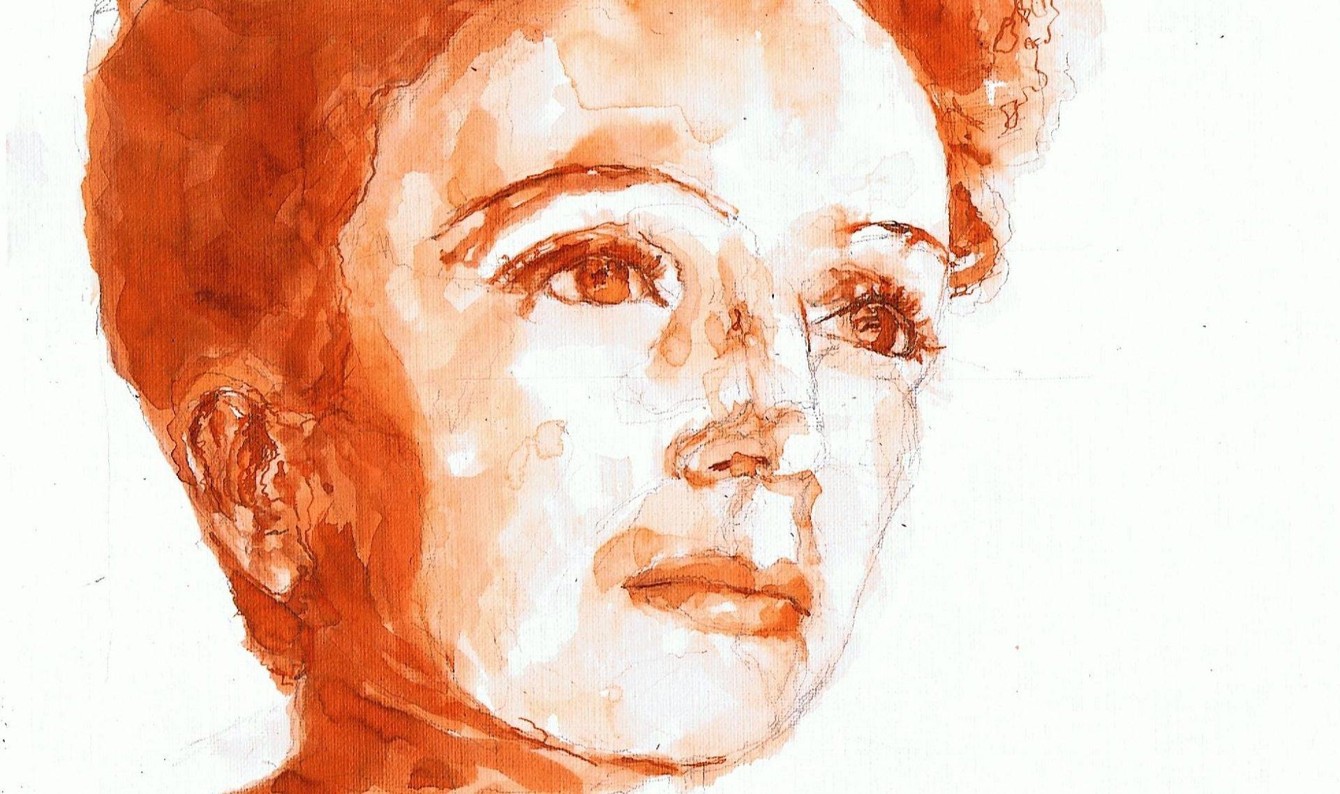 365 dagen een portret 63 Edith Piaf, zangeres Inkt 19c25