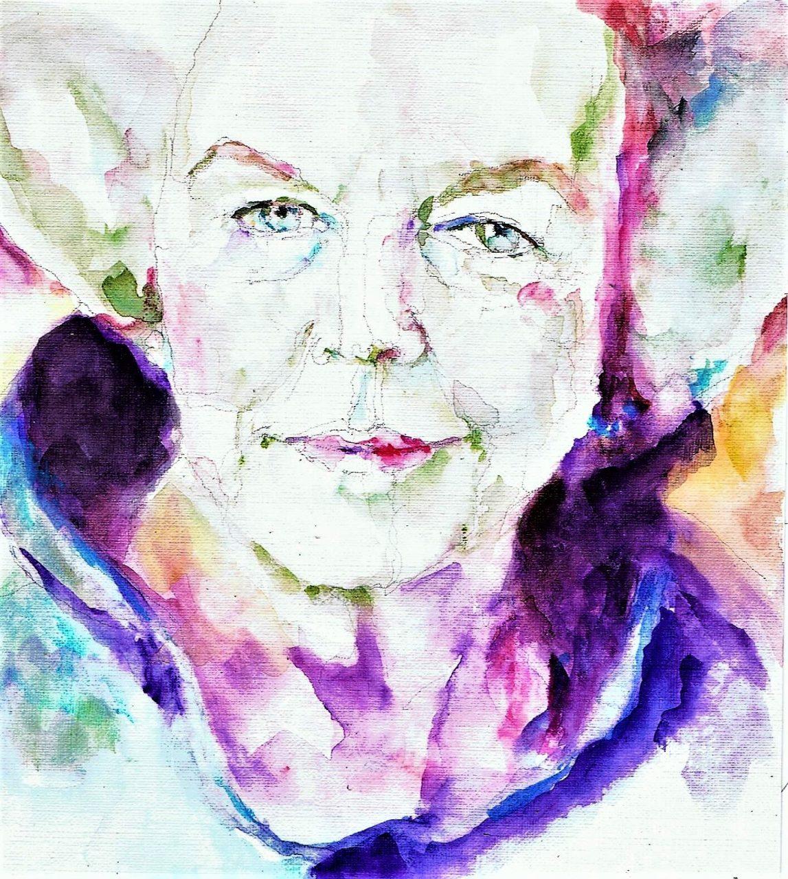 365 dagen een portret 59 Beatrix, prinses Aquarel 19c25