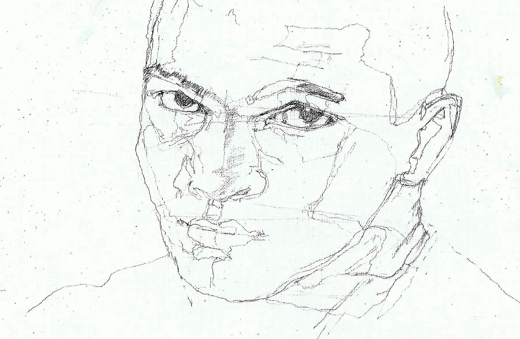 365 dagen een portret 56 Mohammed Ali, wereldkampioen(3) boksen Potlood 19c25