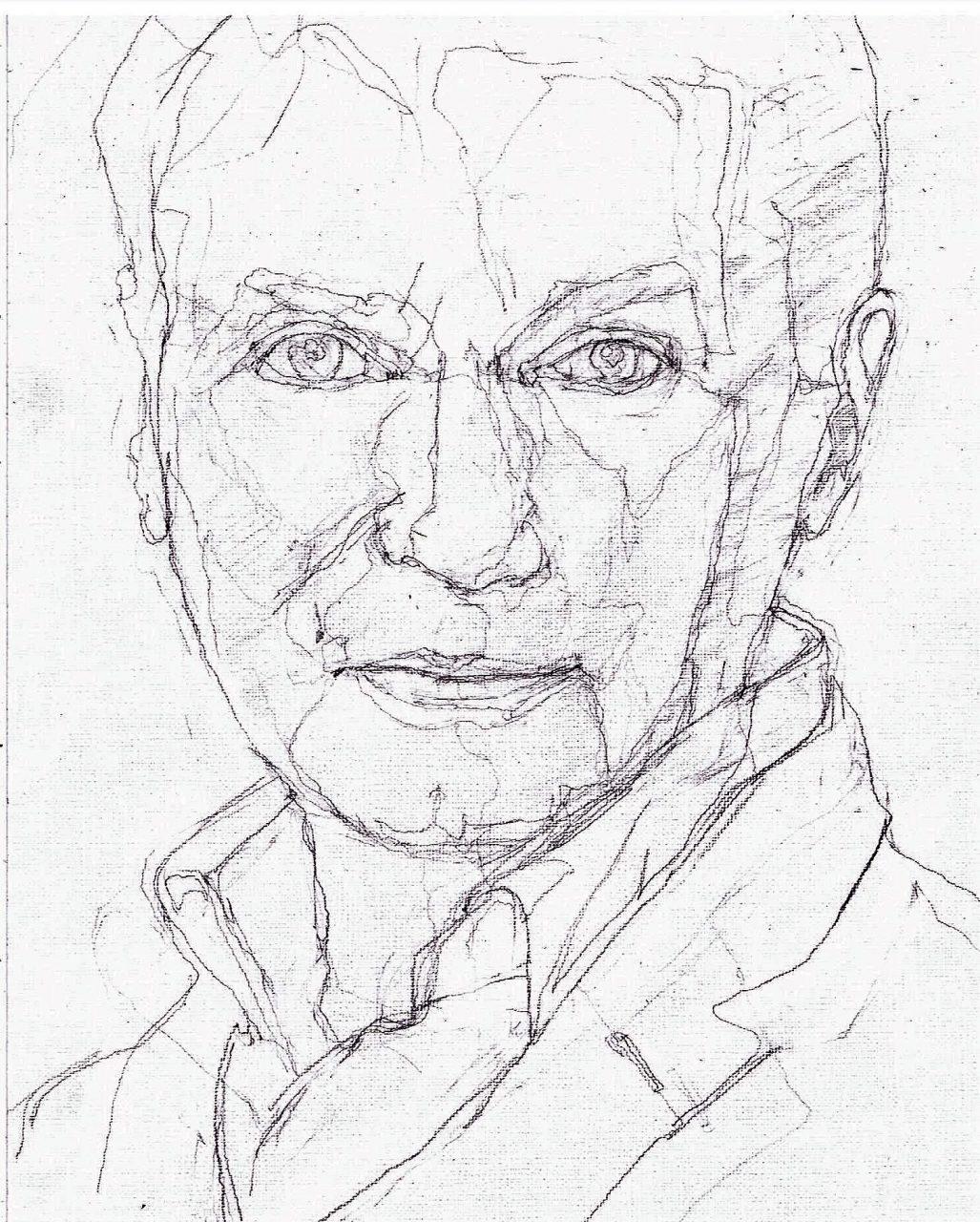 365 dagen een portret 53 Adriaan van Dis, schrijver Potlood 19c25