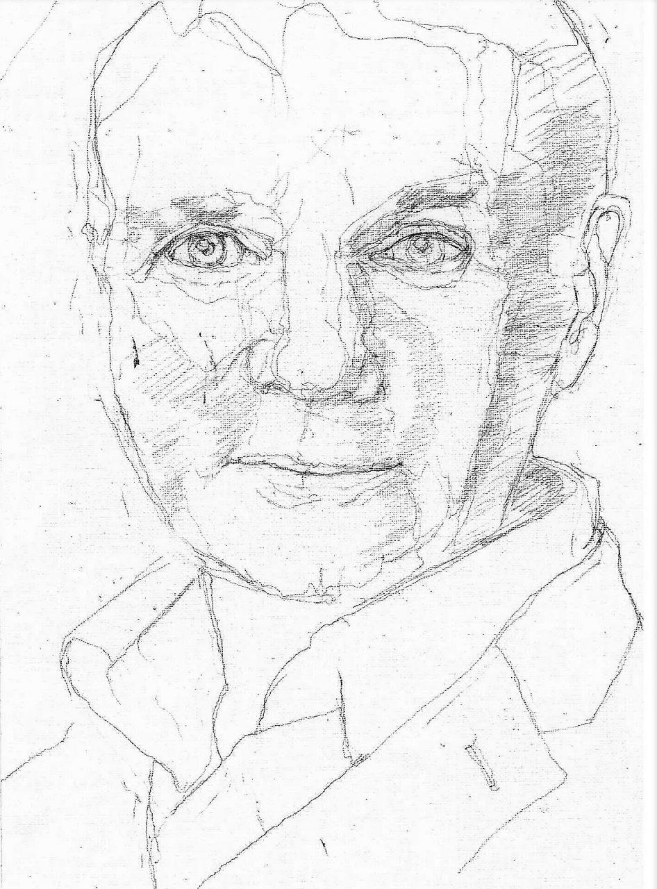 365 dagen een portret 52 Adriaan van Dis, schrijver Potlood 19c25