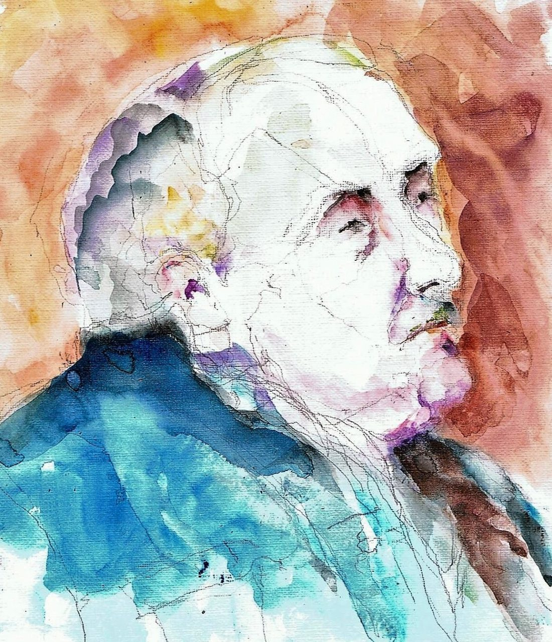 365 dagen een portret 51 Willem, model Aquarel 19c25