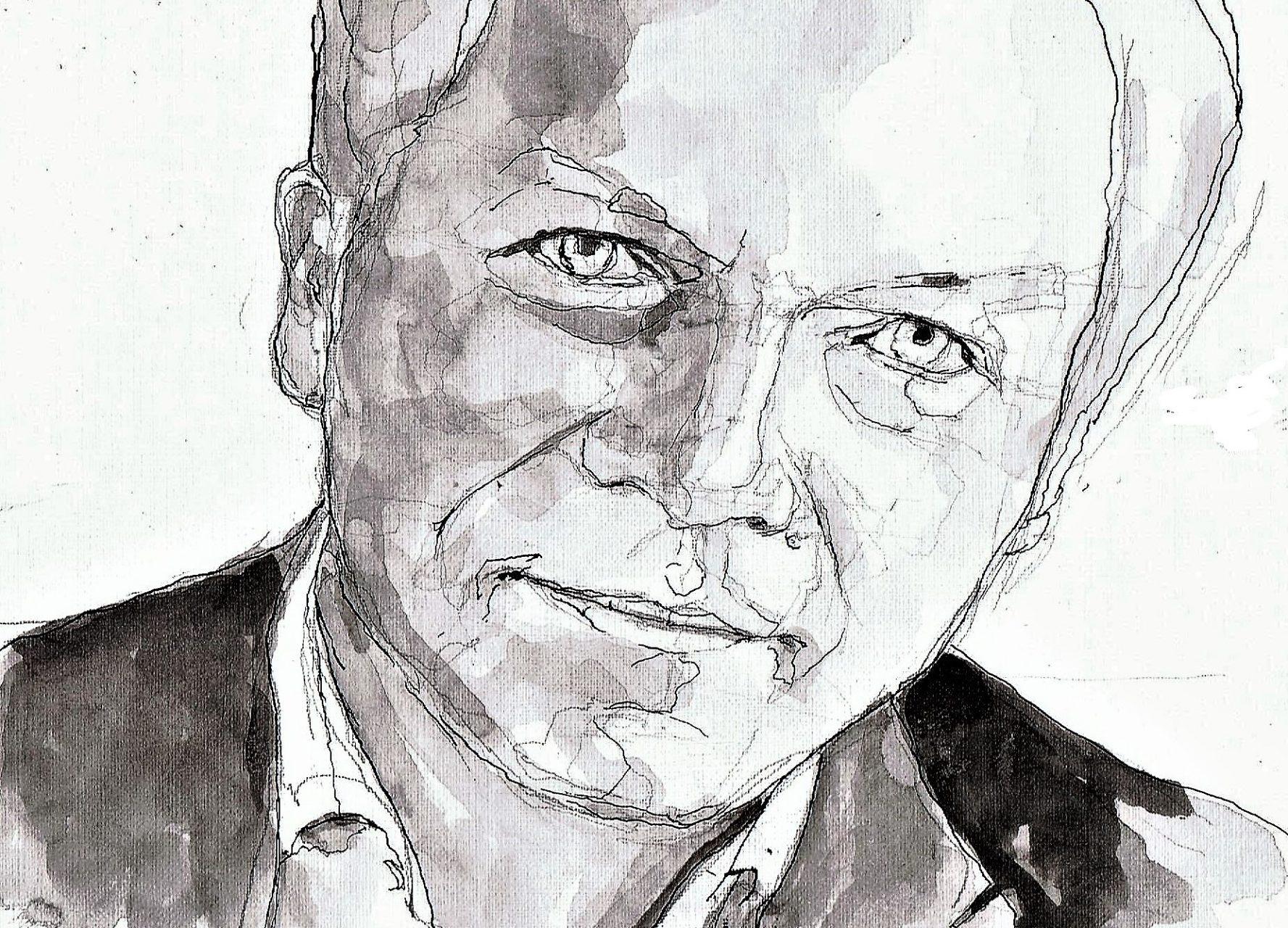 365 dagen een portret 47 Wouter Bos, factievoorzitter PvdD Inkt 19c25