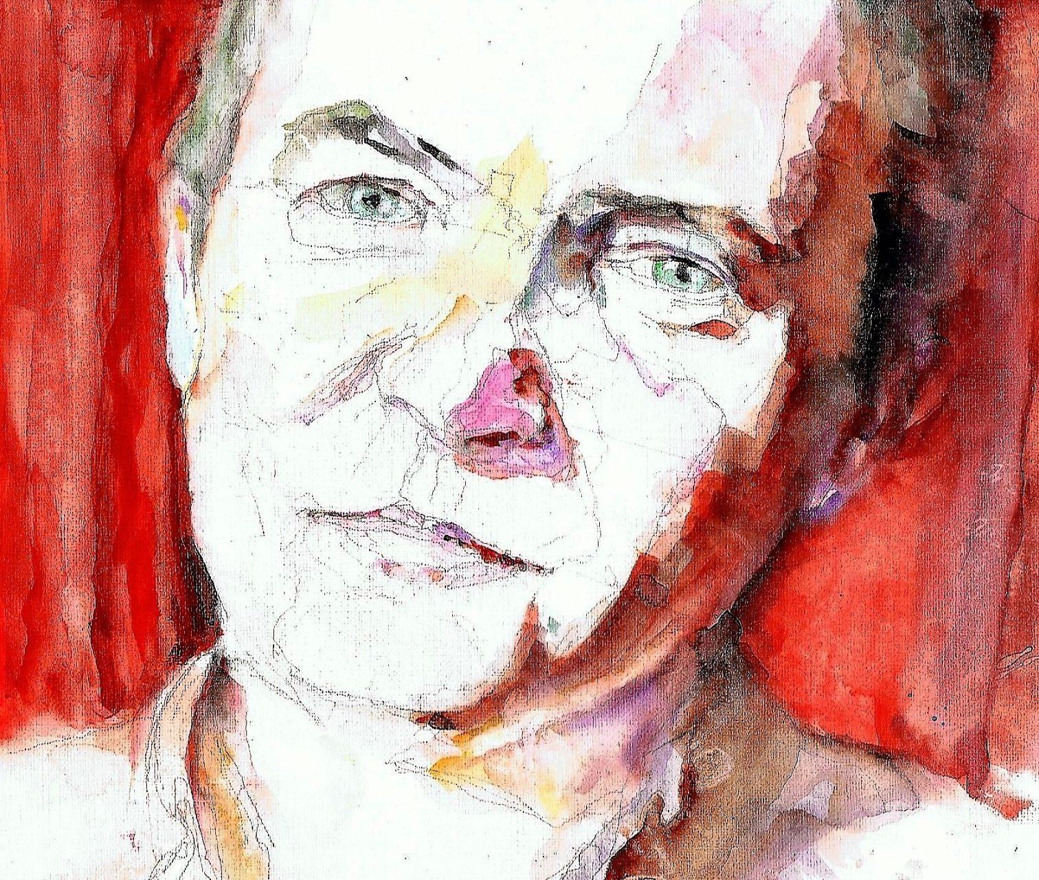 365 dagen een portret 45 Herman Finkes, cabaretier Aquarel 19c25