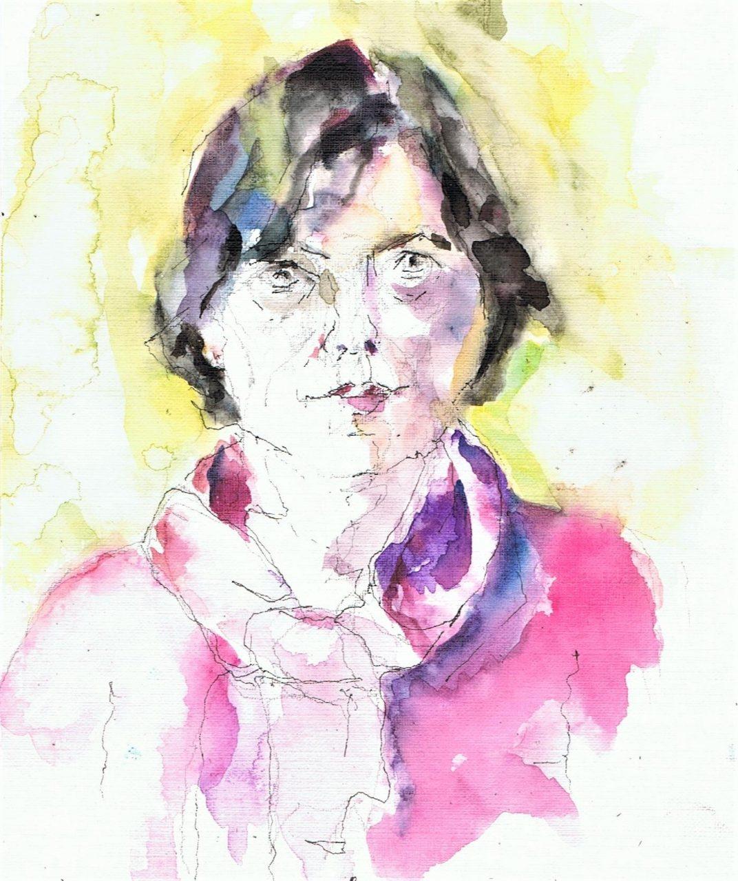365 dagen een portret 44 Caroline, model Aquarel 19c25
