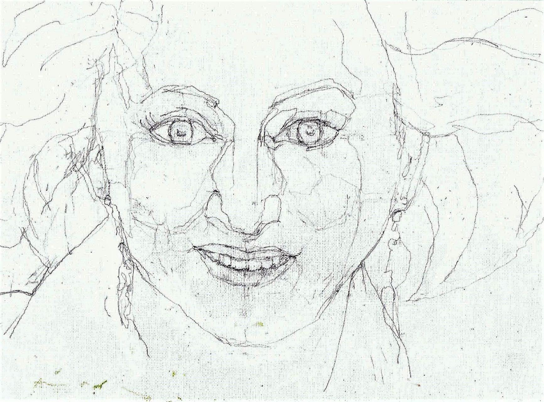 365 dagen een portret 38 Karin Bloemen, cabaretière Potlood 19c25