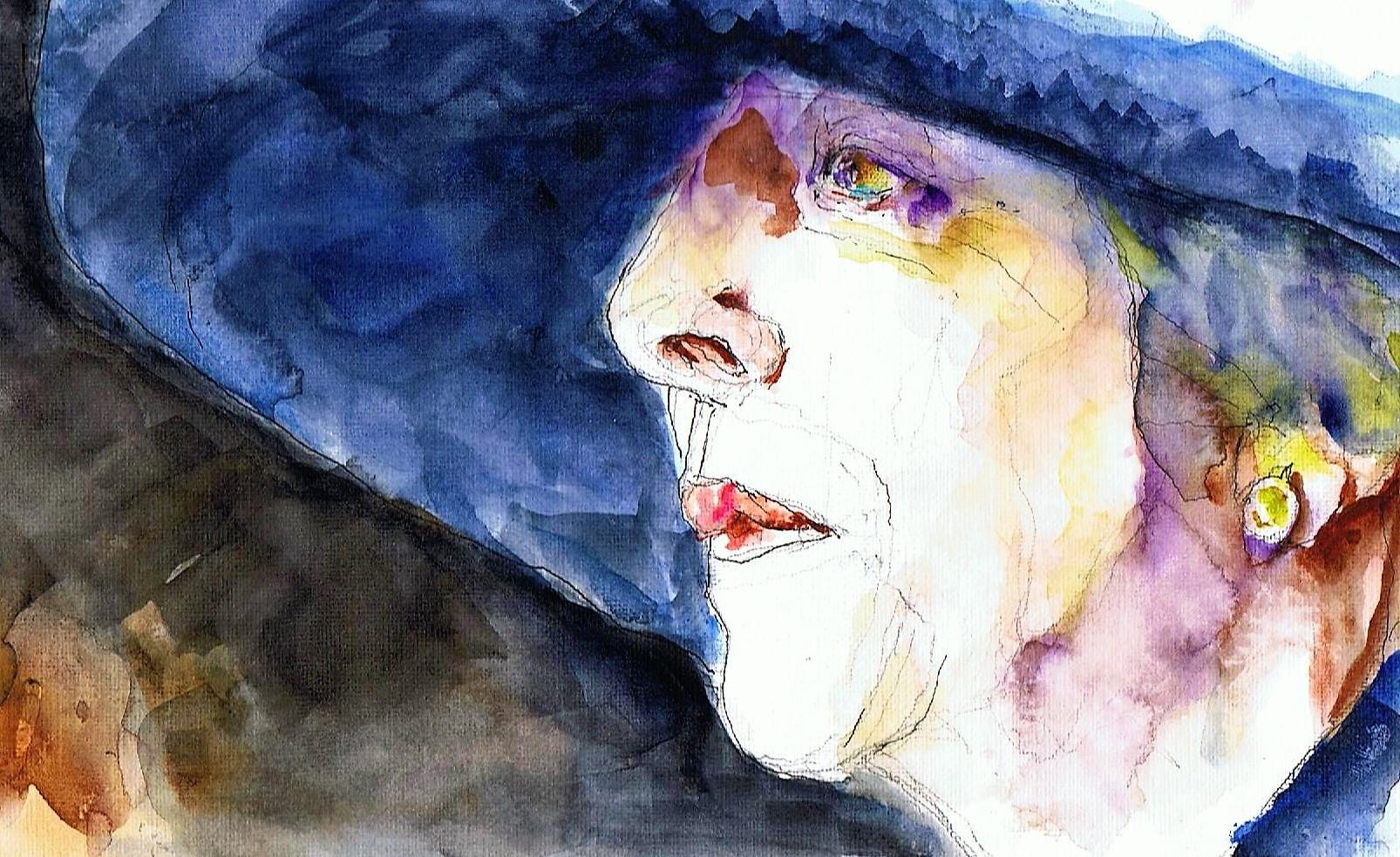 365 dagen een portret 37 Theresa May, premier Engeland Aquarel 19c25