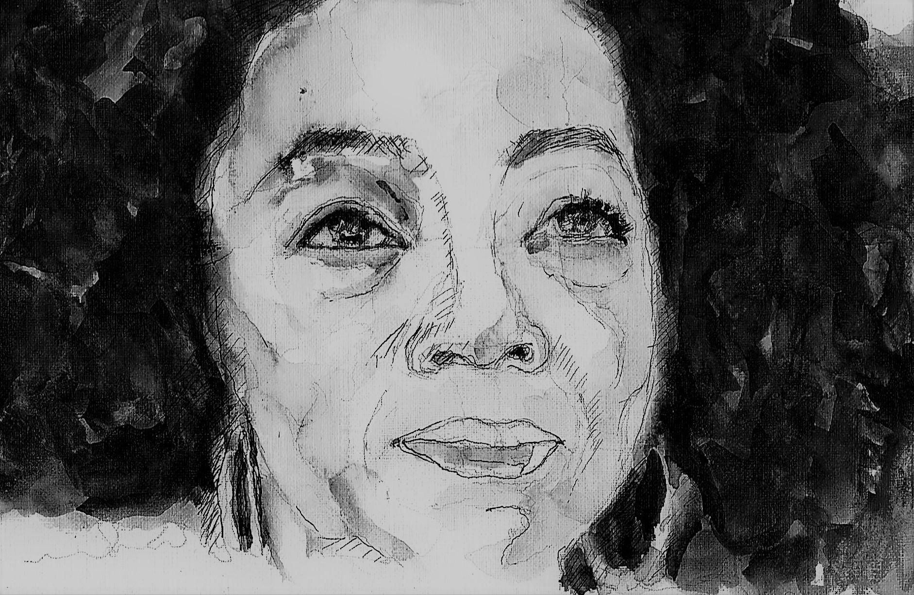 365 dagen een portret 34 Ophrah Winfrey, talkshow Inkt 19c25