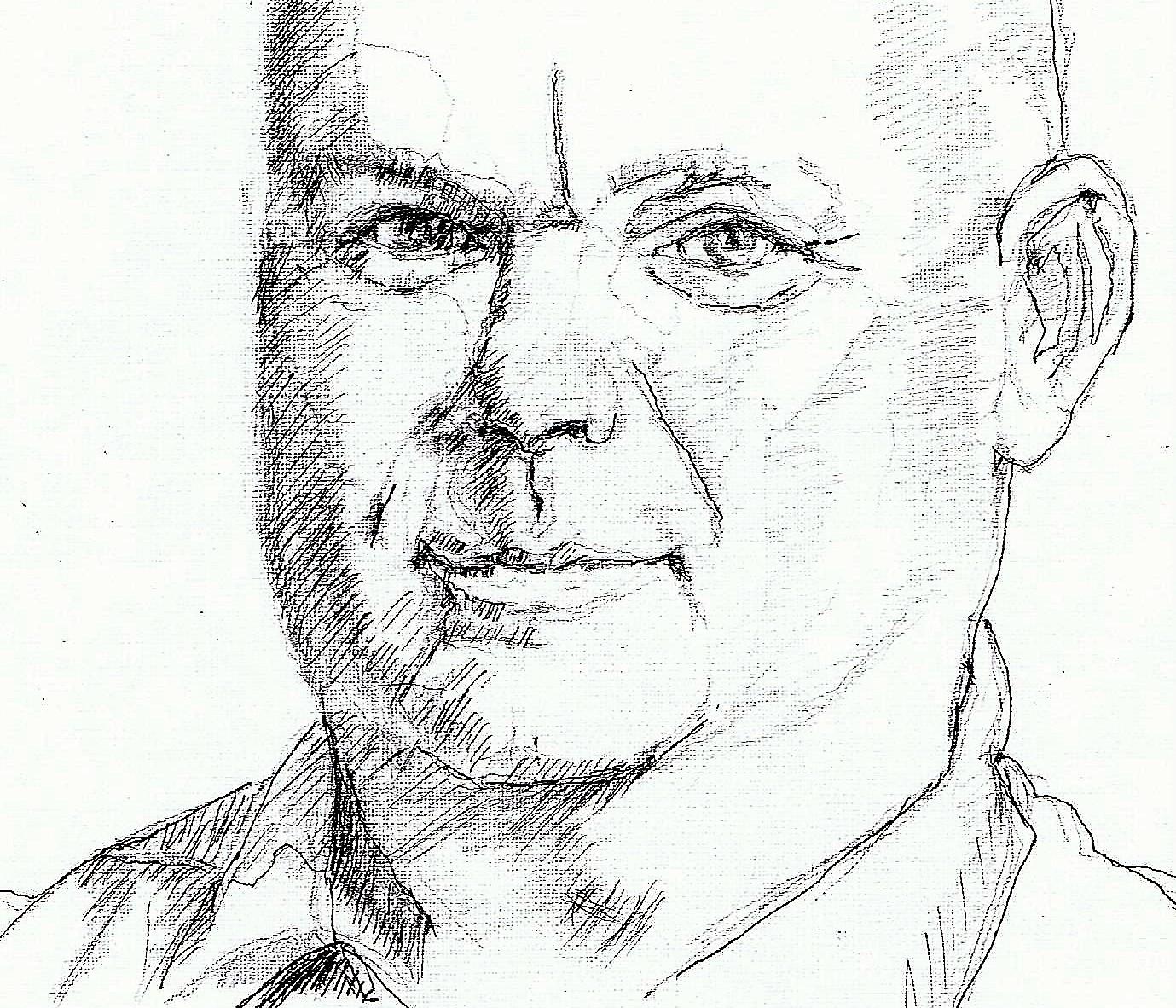 365 dagen een portret 32 Paul de Leeuw, komiek Inkt 19c25