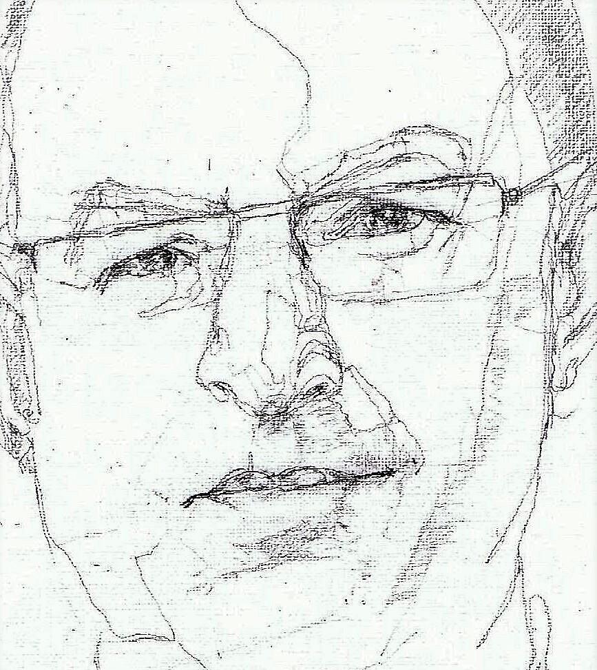 365 dagen een portret 25 Ahmed Aboutaleb, burgemeester A'dam Potlood 2B 19c25