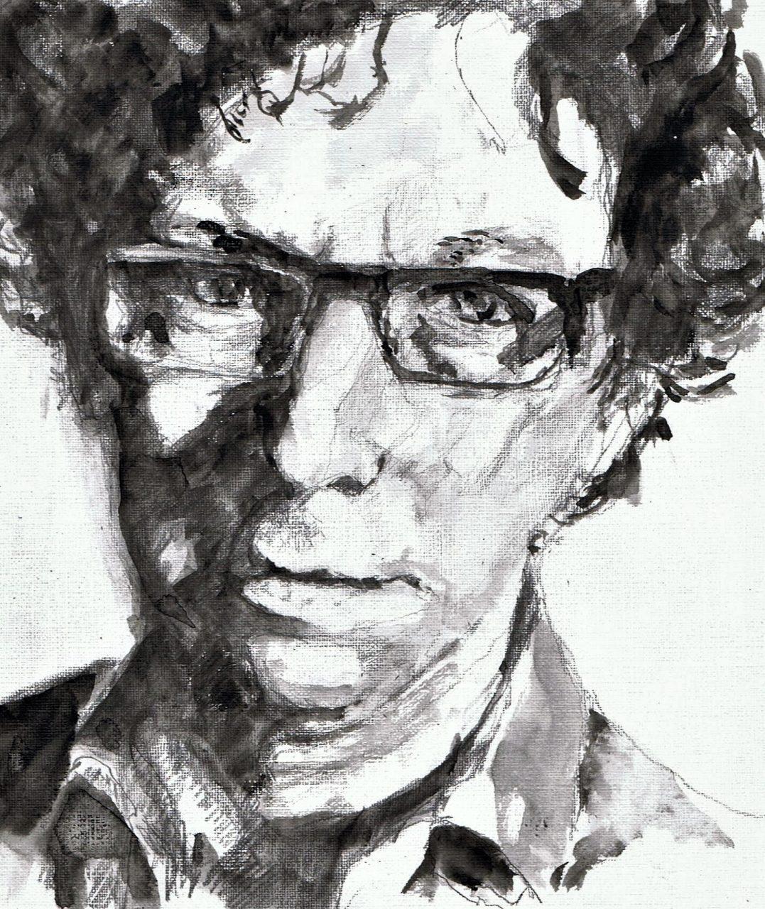 365 dagen een portret 24 Aron Grunberg, schrijver Woody Stabilo 19c25