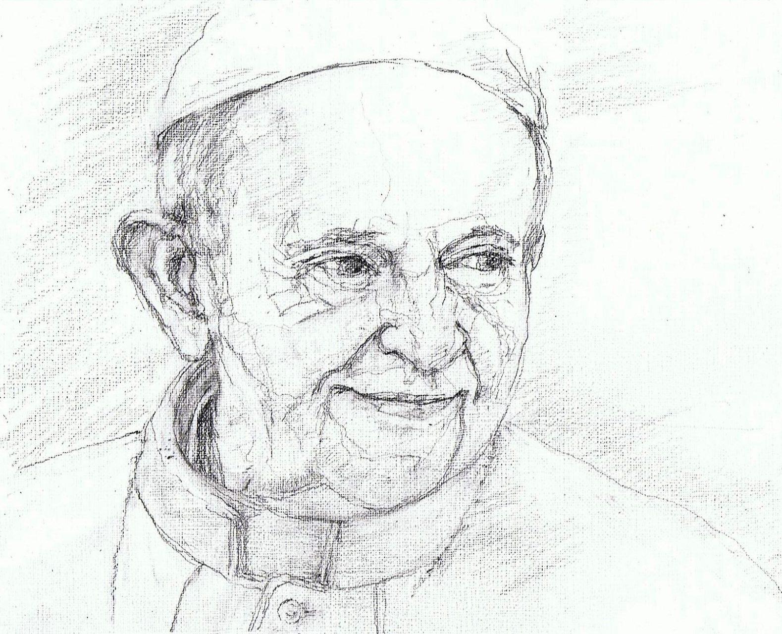 365 dagen een portret 23 Paus Franciscus Potlood 2B 19c25