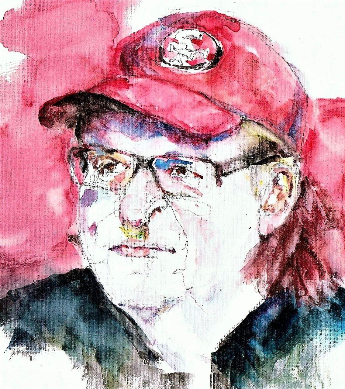 Michael Moore 2017 Aquarel 19x35