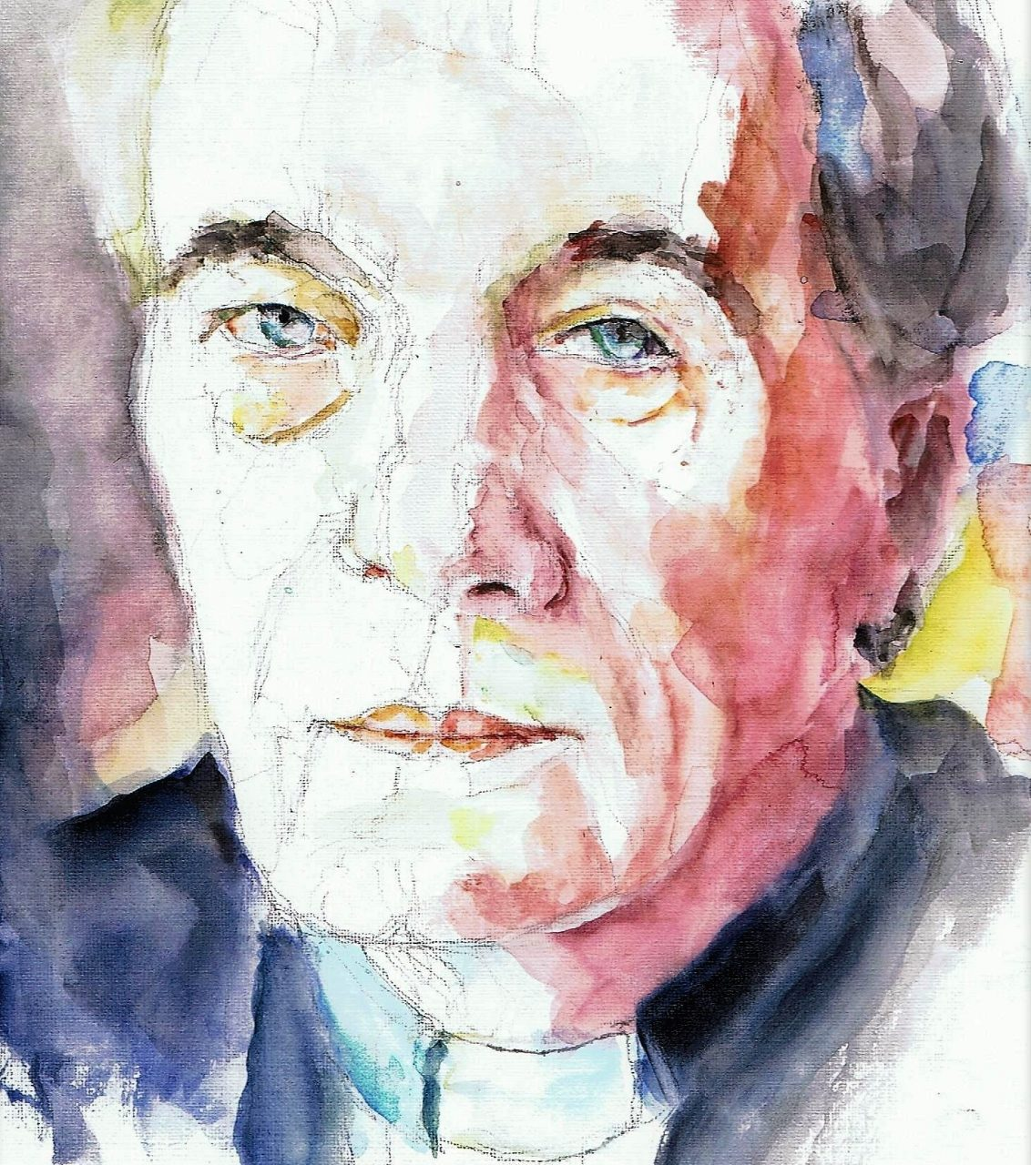 365 dagen een portret 20 antoine Bodar, priester en kunsthistoricus Aquarel 19c25