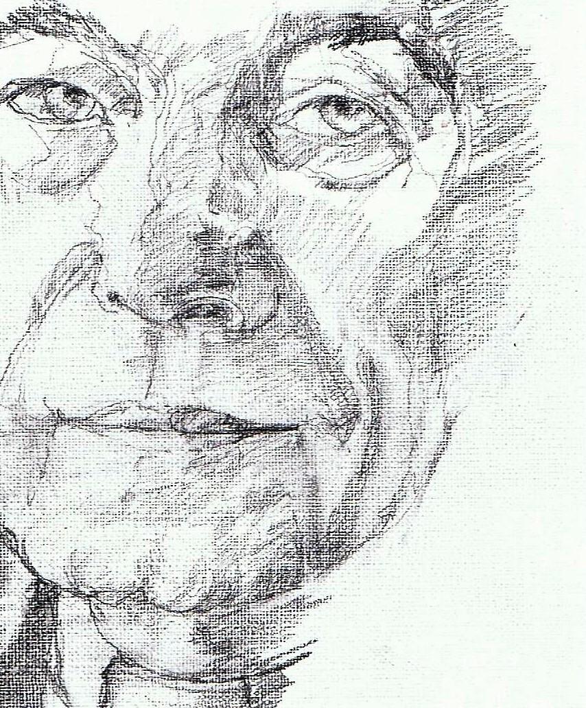 365 dagen een portret 19 antoine Bodar, priester en kunsthistoricus Potlood 19c25