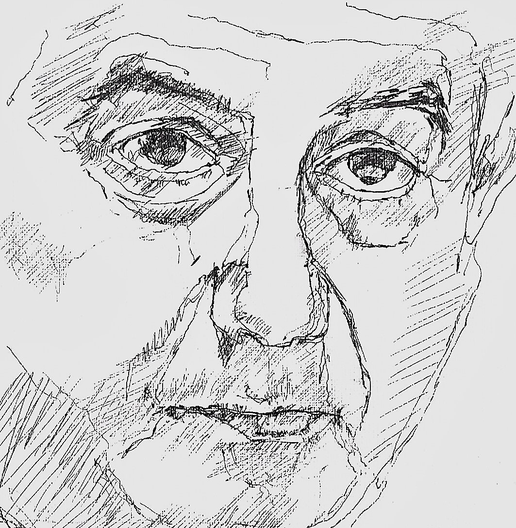 365 dagen een portret 18 Frits Bolkenstein, politicus Potlood 19c25