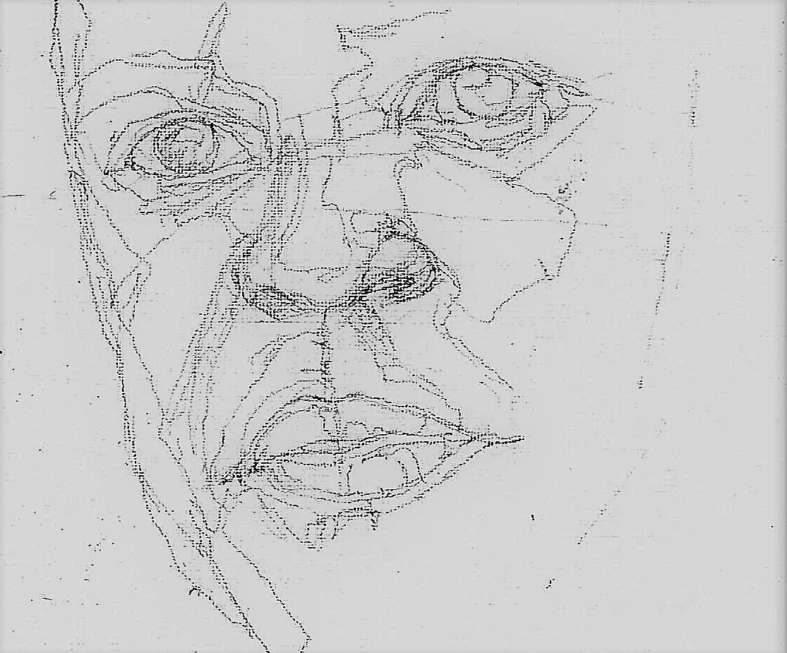 365 dagen een portret 16 Patrick Kluivert, voetballer Potlood 2B 19c25