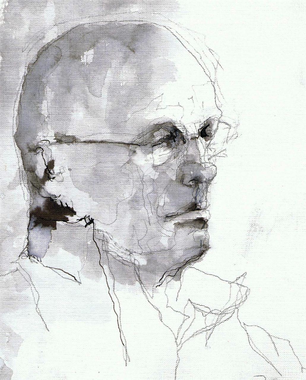 365 dagen een portret Paul, model Gewassen inkt 19c25
