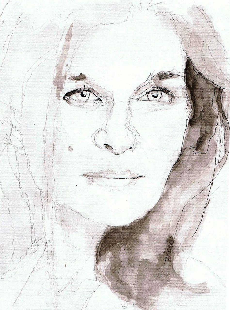 365 dagen een portret Janine Jansen, violiste Inkt 19c25