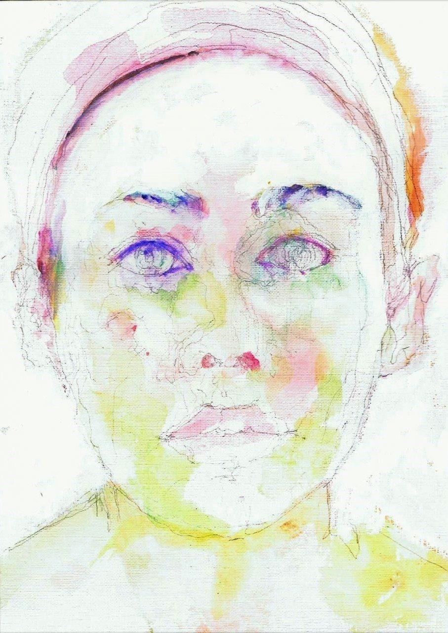 365 dagen een portret Halina Reijn, actrice Aquarel 19c25