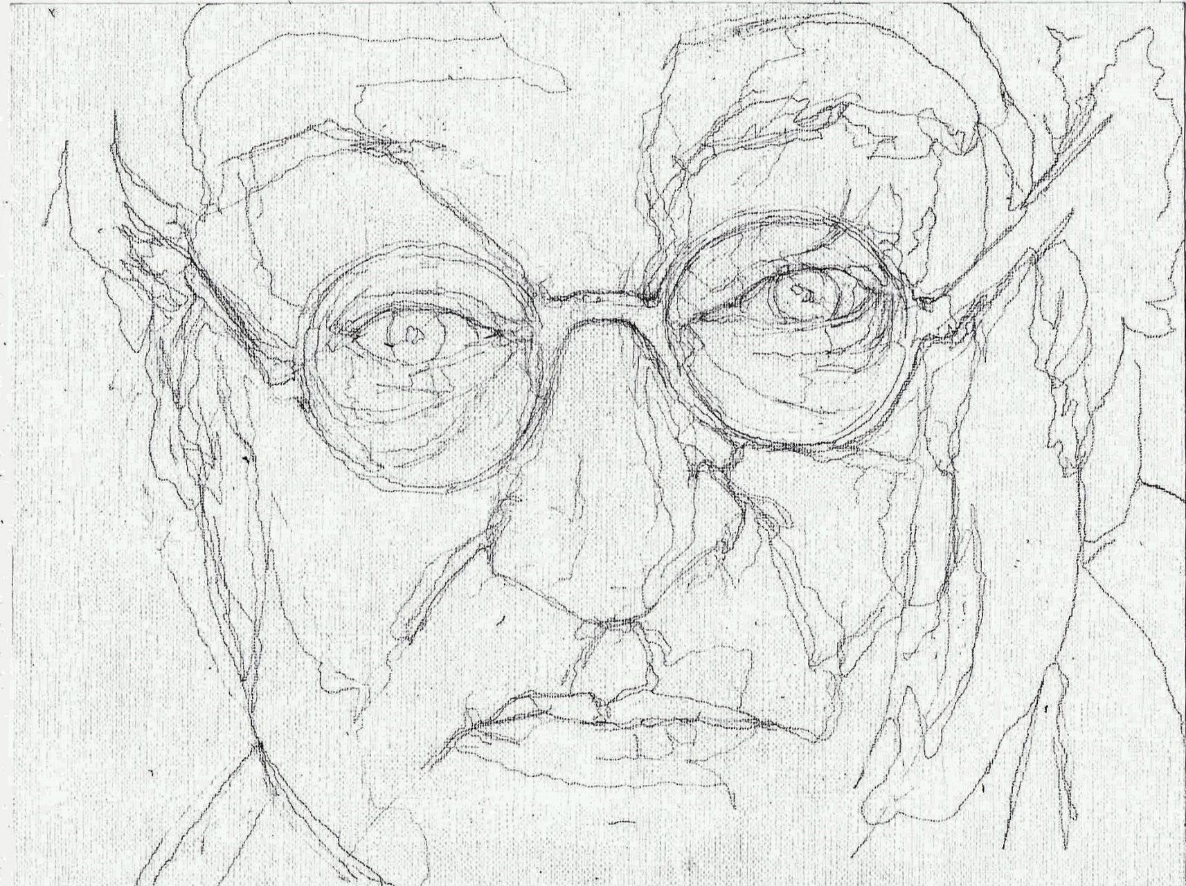 365 dagen een portret Youp van 't Hek, cabaretier Potlood 19c25
