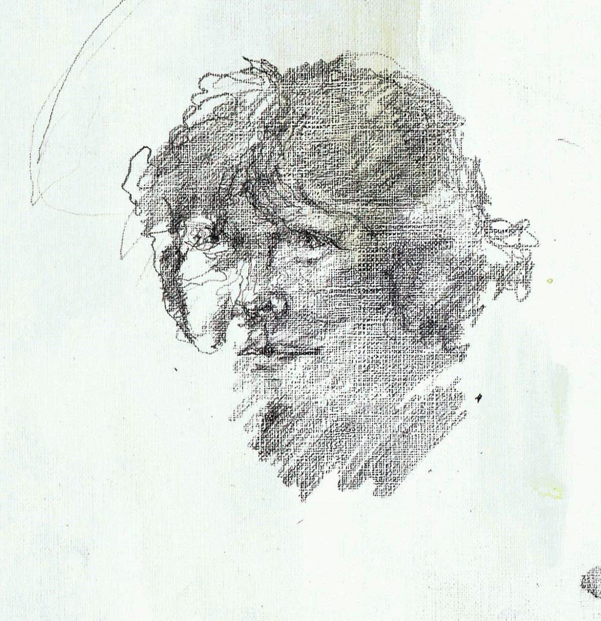 365 dagen een portret Ria, model ( beeldhouwster) Potlood 19c25