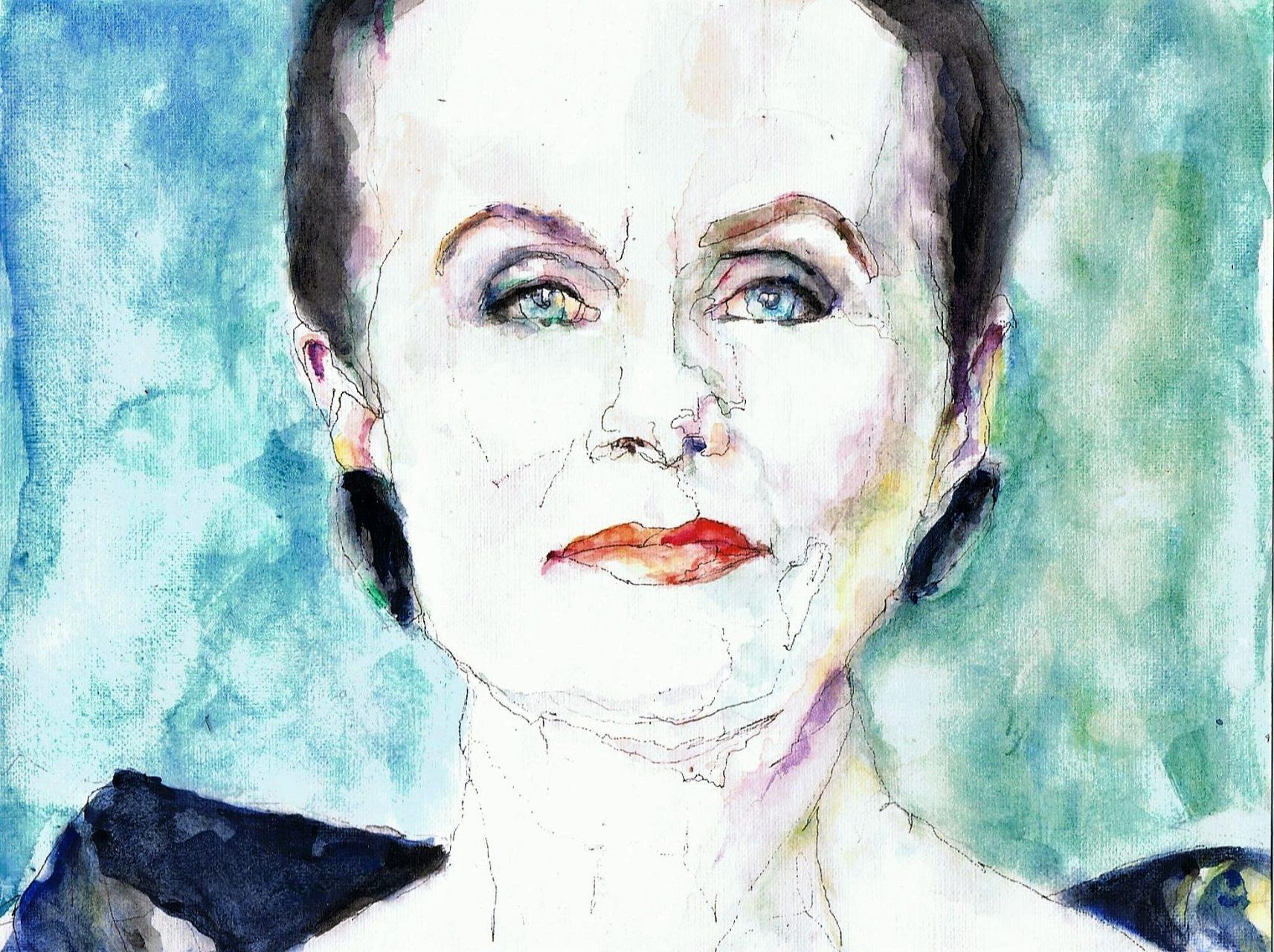 365 dagen een portret Ans Markus, kunstenaar Aquarel 19c25