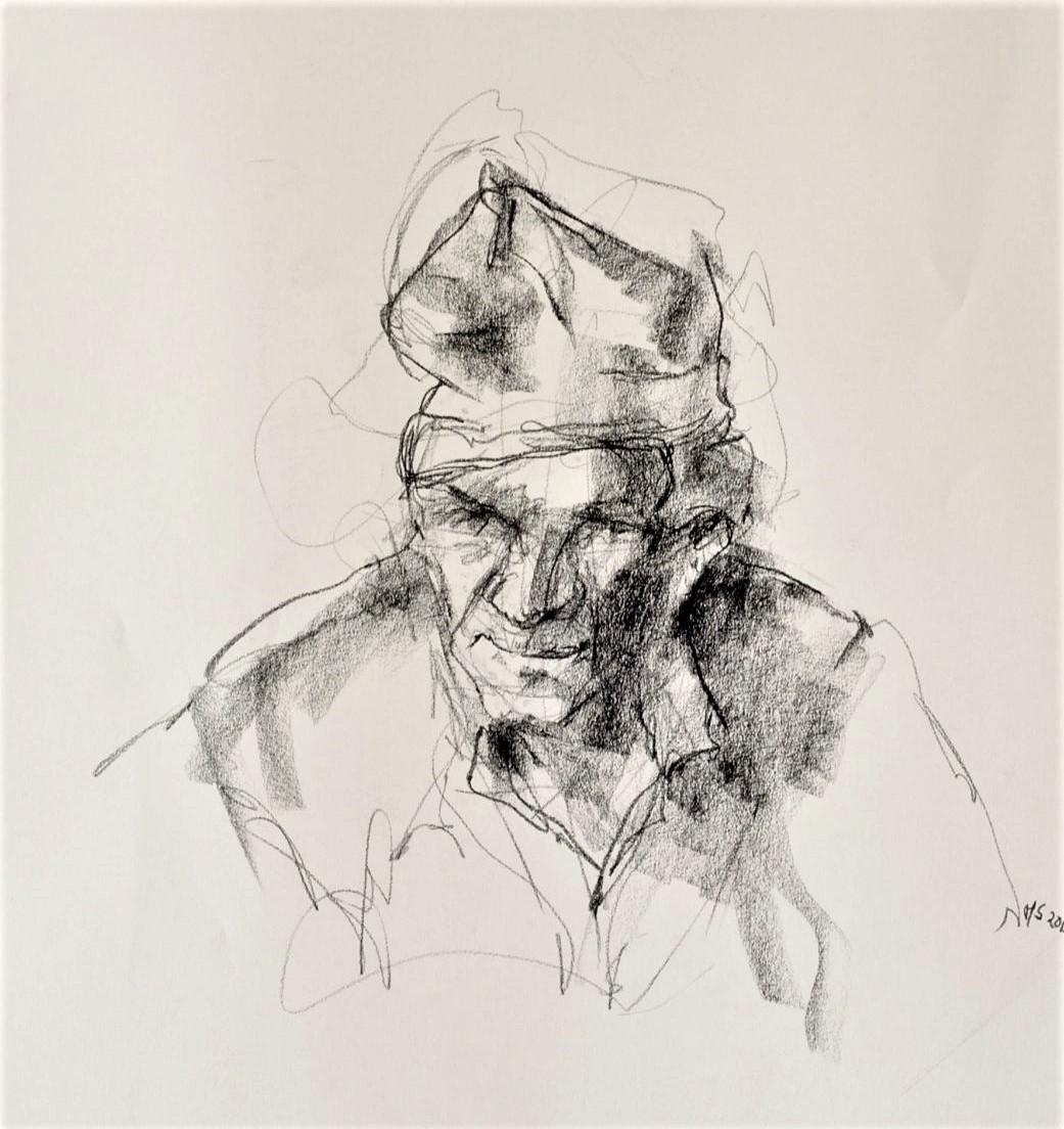 365 dagen een portret Willem, model Siberisch krijt 19c25