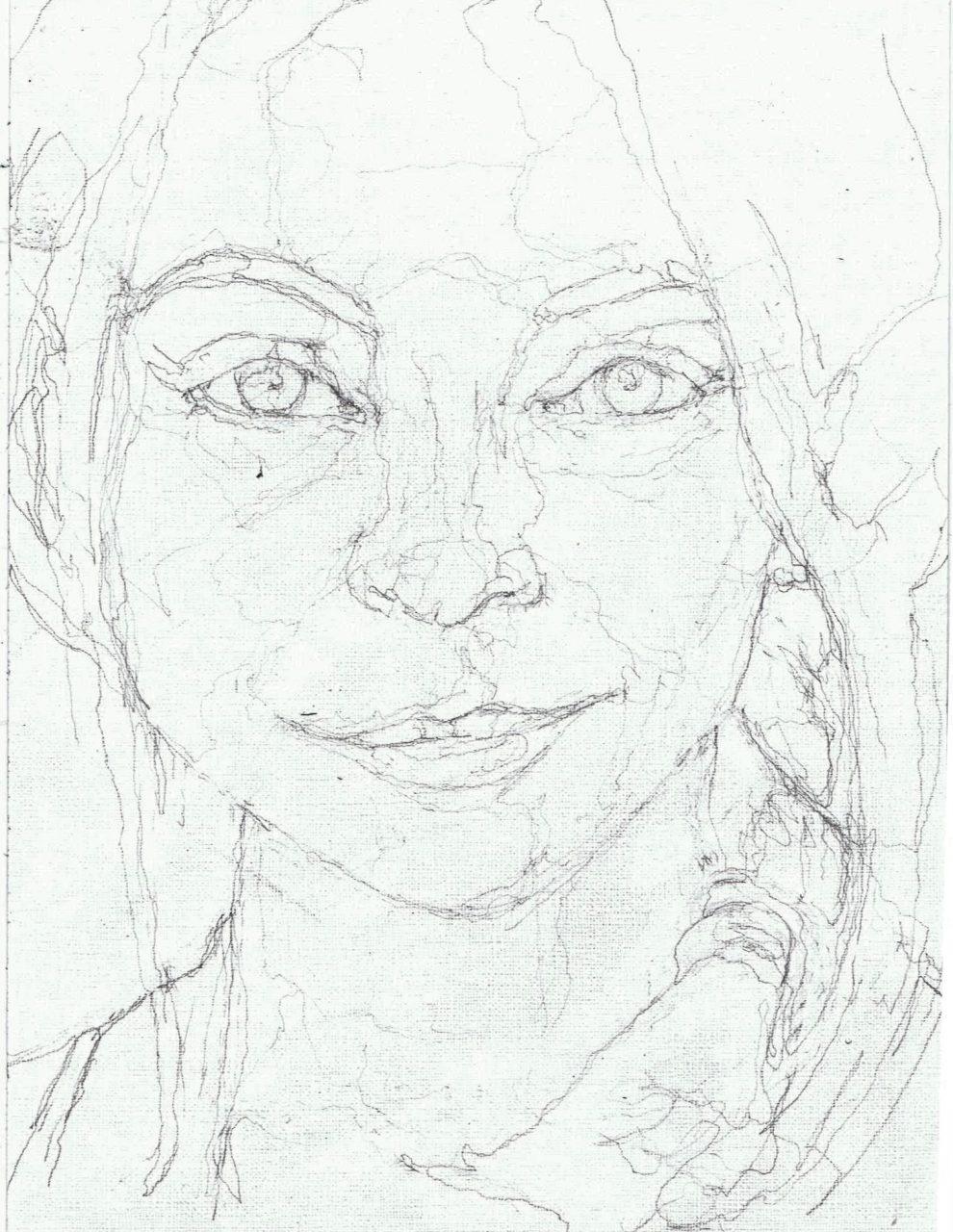 365 dagen een portret Georgina Verbaan, actrice Potlood 19c25
