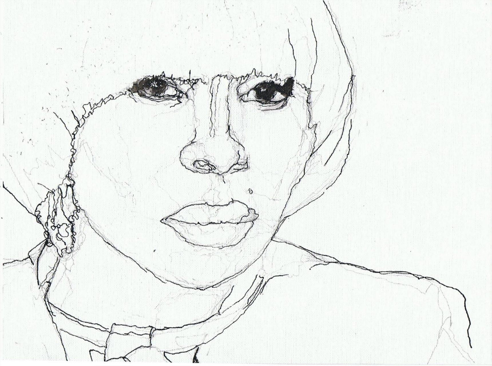 365 dagen een portret Mary J. Blige, singer-songwriter Inkt 19c25