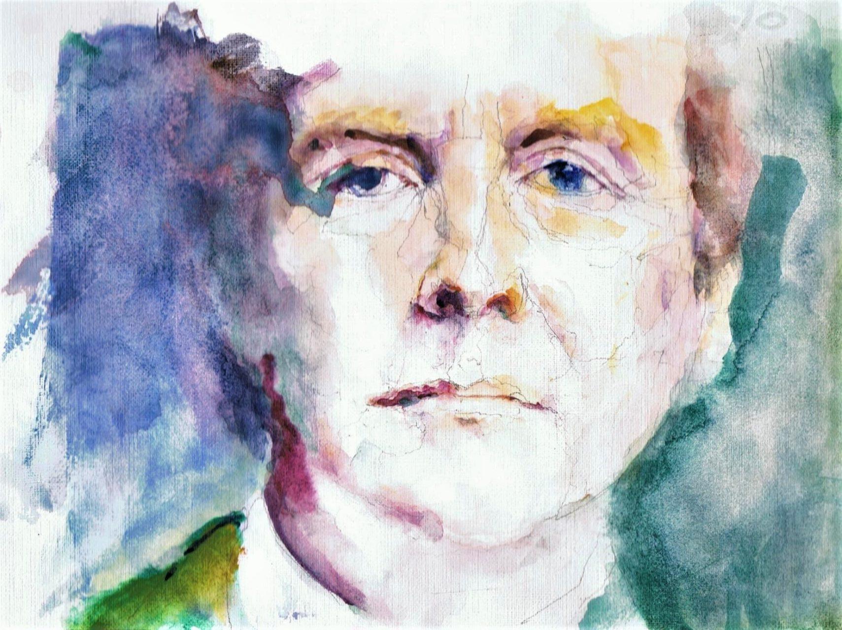 365 dagen een portret Willem-Alexander, koning der Nederlanden (2) Aquarel 19c25