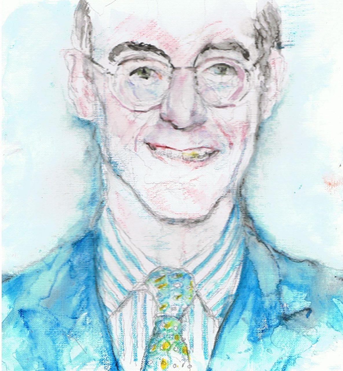 365 dagen een portret 7 Jacob Rees-Nogg, Brits politicus Aquarel 19c25