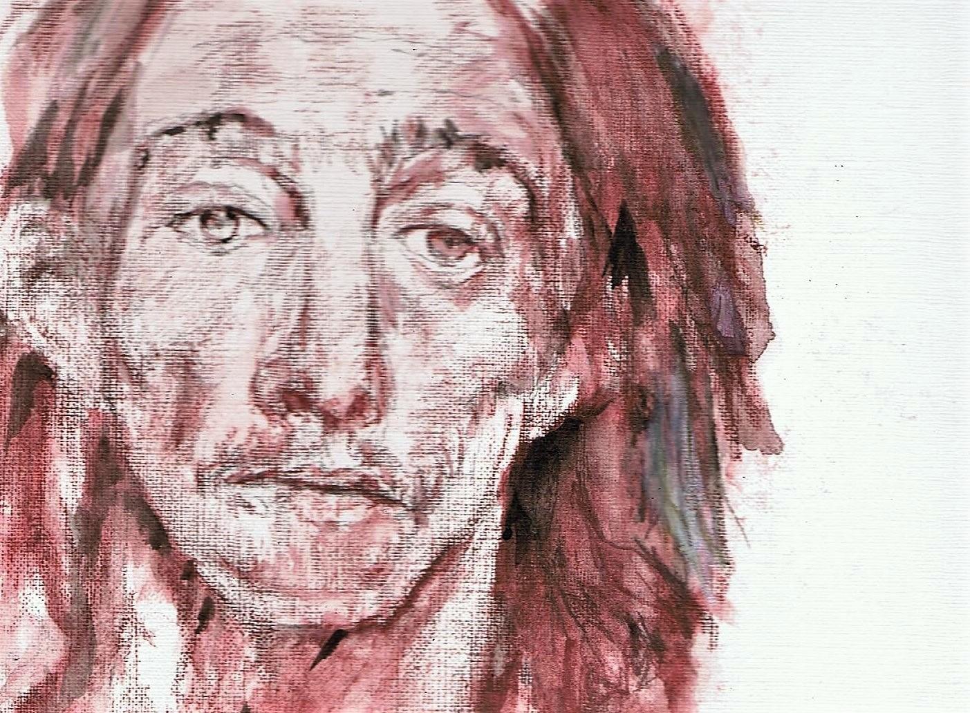 365 dagen een portret, dag 4 Mijnwerker Colorado Aquarel op papier