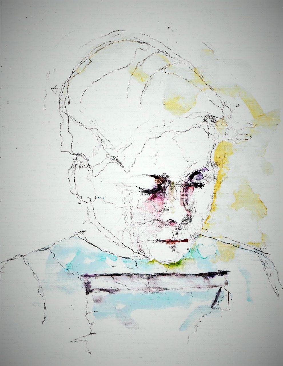 365 dagen een portret 108 12 jaar Aquarel 19c25